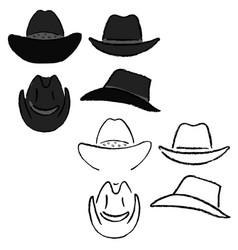 Cowboy hat template vector