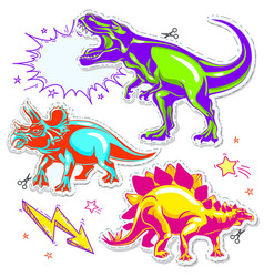 set of dinosaurs of vector image