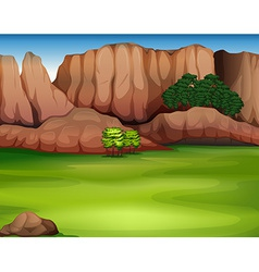 A beautiful landscape vector image vector image