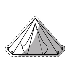 camp tent icon image vector image vector image