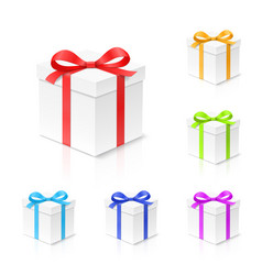 gift box set with red gold blue green and vector image vector image