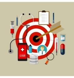 health medication target effective drug obama care vector image