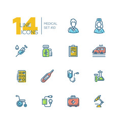 medical equipment - thick line icons set vector image