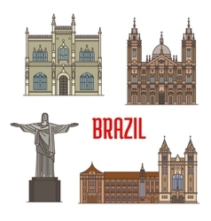 Tourist attraction architecture landmarks in vector image vector image