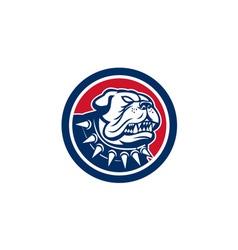 Angry Bulldog Dog Mongrel Head Mascot vector image vector image