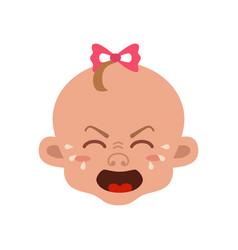 baby facial expression vector image