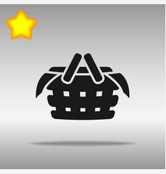 black picnic icon button logo symbol concept high vector image vector image
