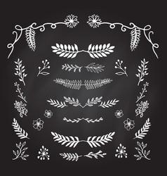 hand drawn decorative elements vector image vector image