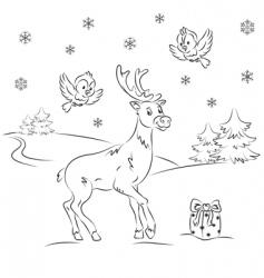 reindeer Rudolf vector image vector image
