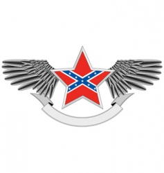 star with flag of confederacy vector image vector image