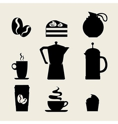 Coffee icon menu Flat design for menu coffee shop vector image vector image
