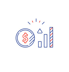 dollar coin financial consulting money investment vector image