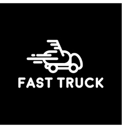 Hurtling truck speed linear style with the loop vector
