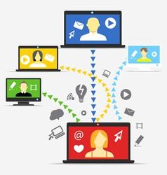 Modern people communication scheme vector image vector image