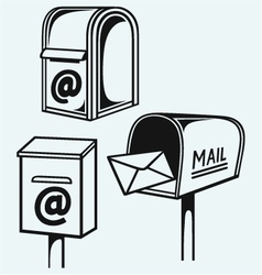 Open Mailbox with letters vector image