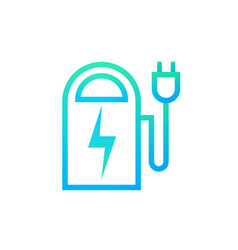 power bank icon outline modern portable battery vector image vector image
