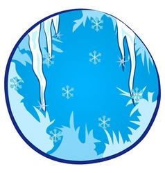 Winter Season Window vector image vector image