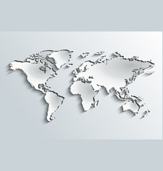 world map in peeling paper vector image