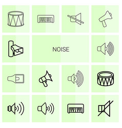 14 noise icons vector image