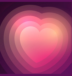 abstract gradient heart background vector image