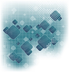 Abstract squares blank blue background vector image