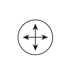arrow compass icon vector image