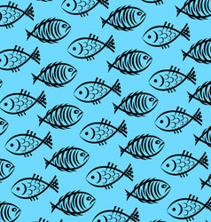 Background of fish vector