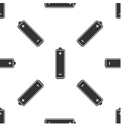 battery icon seamless pattern on white background vector image