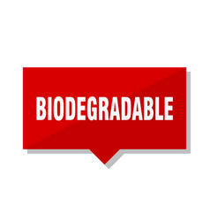 Biodegradable red tag vector
