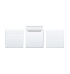 blank white paper envelopes for mail mockup 3d vector image