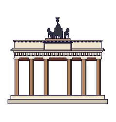 Brandenburg gate monument vector