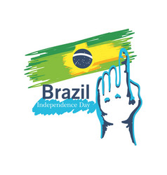 Brazil independence day celebration greeting card vector