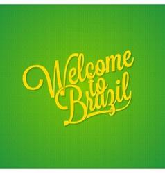 Brazil vintage lettering background vector image