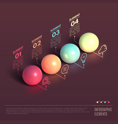 Business Infographics ball concept vector image