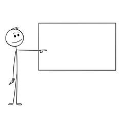 Cartoon man or businessman or teacher vector