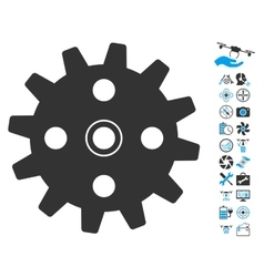 Cogwheel Icon With Copter Tools Bonus vector