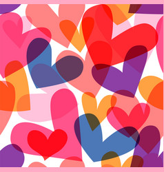 colorful heart shape seamless pattern cartoon vector image
