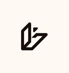 creative professional trendy monogram l logo vector image