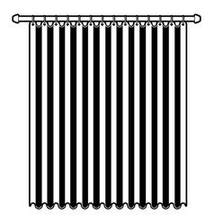 curtain of room holding in a pole black color vector image
