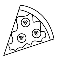 Delicious pizza isolated icon vector