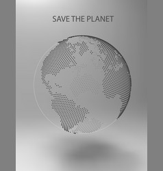 dotted earth vector image