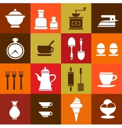Elements of household vector image