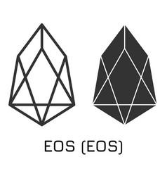 Eos eos crypto coin icon o vector