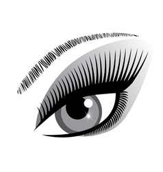 Eye blue winking vector
