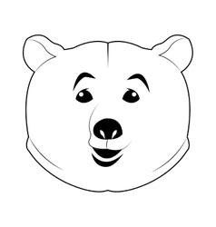 Face of bear icon vector