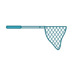 Fishing net isolated icon vector