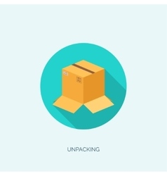 Flat carton box Transport vector image