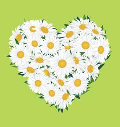 Flower bouquet floral heart frame flourish summer vector