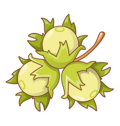 flower nut icon cartoon style vector image