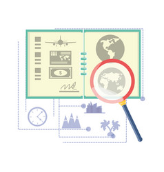 Global map with travel tours ubication vector